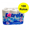 Papel higiénico doméstico - Hiperclean - 108 rolos -Grupo APR